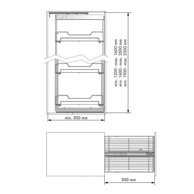 Columna Extraible Despensero para Mueble de Cocina