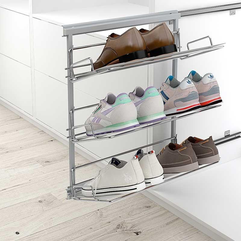 Bastidor extraible zapatero para armarios y vestidores - Zapateros para armarios ...