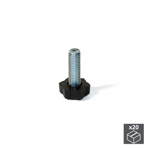 Nivelador M8 Hexagonal para Regulación Exterior H 38 mm (20 uds)