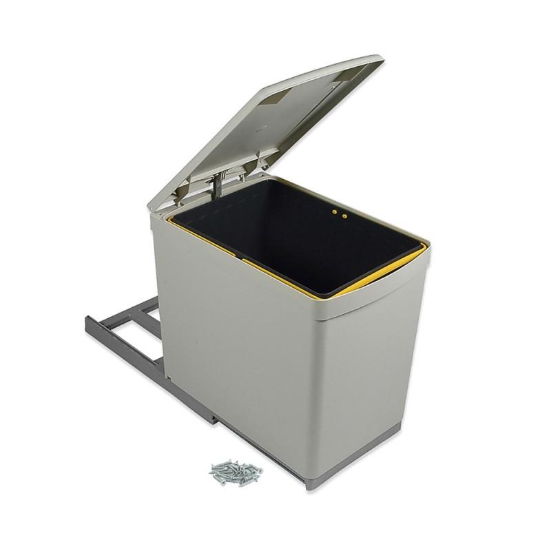 Cubo Basura Cocina 16 L Extracción Manual Tapa Automática