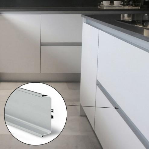 Perfil Gola Intermedio Horizontal Aluminio Cocina