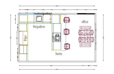 Dise o cocina 3d y presupuesto for Muebles para planos de casas